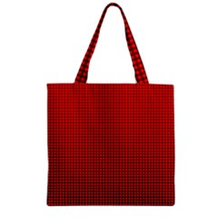 Redc Zipper Grocery Tote Bag by PhotoNOLA