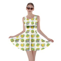 St Patrick S Day Background Symbols Skater Dress