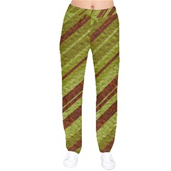 Stripes Course Texture Background Drawstring Pants by Nexatart