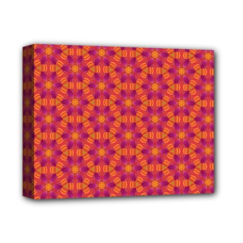 Pattern Abstract Floral Bright Deluxe Canvas 14  X 11  by Nexatart