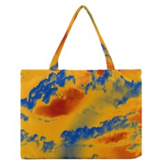 Sky pattern Medium Zipper Tote Bag by Valentinaart