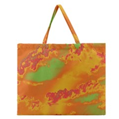 Sky Pattern Zipper Large Tote Bag by Valentinaart