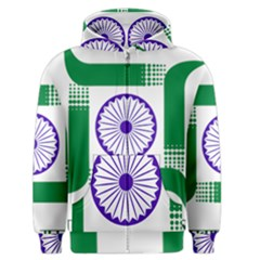 Seal Of Indian State Of Jharkhand Men s Zipper Hoodie by abbeyz71