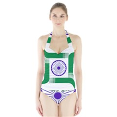 Seal Of Indian State Of Jharkhand Halter Swimsuit by abbeyz71