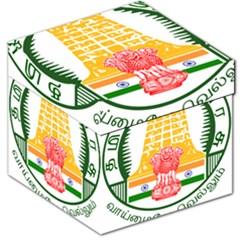 Seal Of Indian State Of Tamil Nadu  Storage Stool 12   by abbeyz71