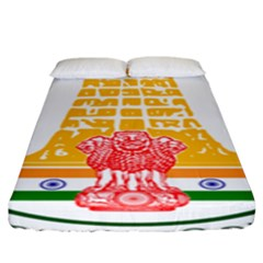Seal Of Indian State Of Tamil Nadu  Fitted Sheet (king Size) by abbeyz71