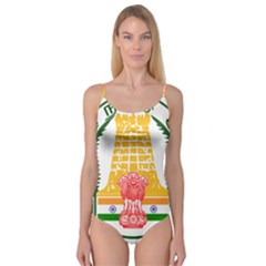 Seal Of Indian State Of Tamil Nadu  Camisole Leotard  by abbeyz71