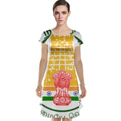 Seal Of Indian State Of Tamil Nadu  Cap Sleeve Nightdress by abbeyz71