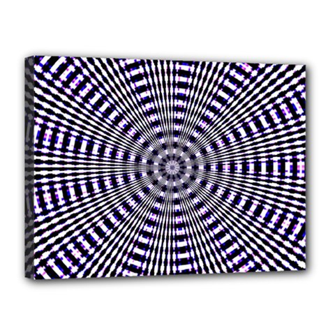 Pattern Stripes Background Canvas 16  X 12  by Nexatart