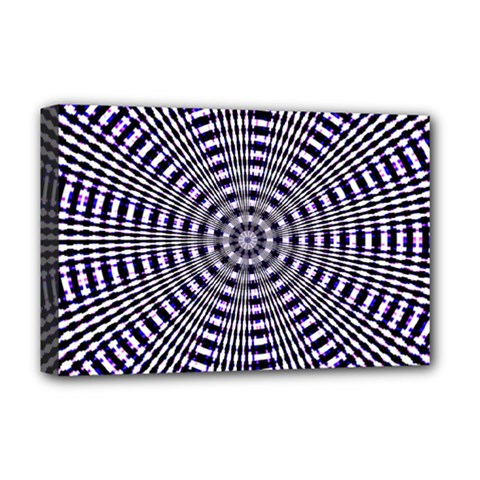 Pattern Stripes Background Deluxe Canvas 18  X 12   by Nexatart
