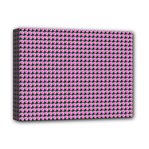 Pattern Grid Background Deluxe Canvas 16  X 12   by Nexatart