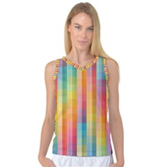 Background Colorful Abstract Women s Basketball Tank Top by Nexatart