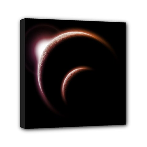 Planet Space Abstract Mini Canvas 6  X 6  by Nexatart