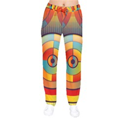Abstract Pattern Background Drawstring Pants by Nexatart
