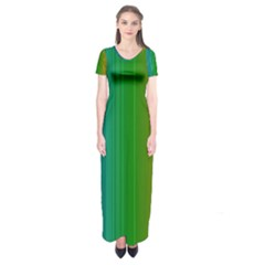 Spectrum Colours Colors Rainbow Short Sleeve Maxi Dress