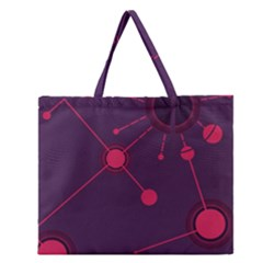 Abstract Lines Radiate Planets Web Zipper Large Tote Bag by Nexatart