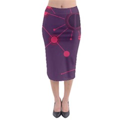 Abstract Lines Radiate Planets Web Midi Pencil Skirt by Nexatart
