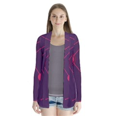 Abstract Lines Radiate Planets Web Cardigans by Nexatart