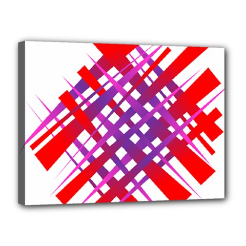 Chaos Bright Gradient Red Blue Canvas 16  X 12  by Nexatart