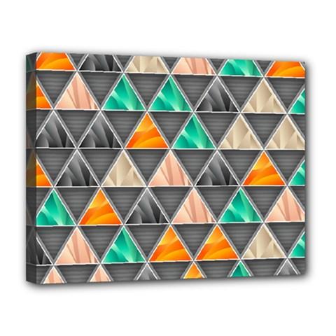 Abstract Geometric Triangle Shape Canvas 14  X 11  by Nexatart