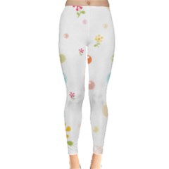 Flower Floral Star Balloon Bubble Leggings  by Mariart