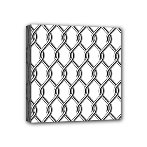 Iron Wire Black White Mini Canvas 4  X 4  by Mariart