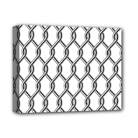 Iron Wire Black White Deluxe Canvas 14  X 11  by Mariart