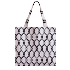 Iron Wire Black White Zipper Grocery Tote Bag by Mariart