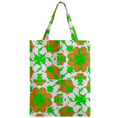 Graphic Floral Seamless Pattern Mosaic Zipper Classic Tote Bag by dflcprints
