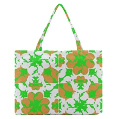 Graphic Floral Seamless Pattern Mosaic Medium Zipper Tote Bag by dflcprints