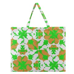 Graphic Floral Seamless Pattern Mosaic Zipper Large Tote Bag by dflcprints