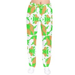 Graphic Floral Seamless Pattern Mosaic Drawstring Pants by dflcprintsclothing