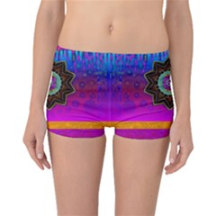 Air And Stars Global With Some Guitars Pop Art Boyleg Bikini Bottoms by pepitasart