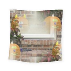 Ghostly Floating Pumpkins Square Tapestry (small) by canvasngiftshop
