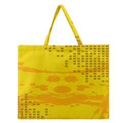 Texture Yellow Abstract Background Zipper Large Tote Bag by Nexatart