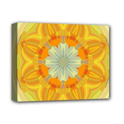 Sunshine Sunny Sun Abstract Yellow Deluxe Canvas 14  X 11  by Nexatart