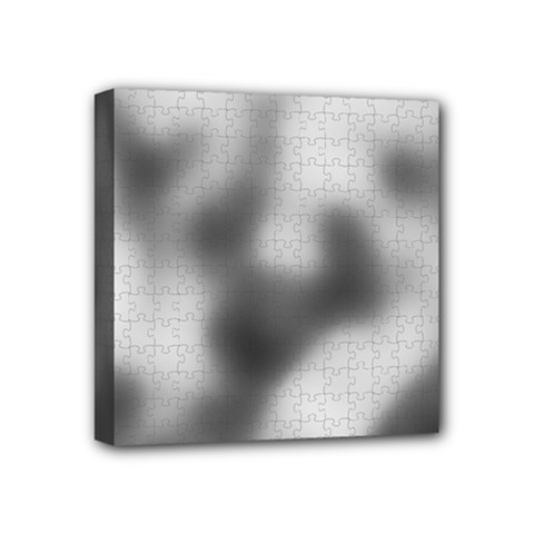 Puzzle Grey Puzzle Piece Drawing Mini Canvas 4  X 4  by Nexatart