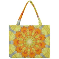 Sunshine Sunny Sun Abstract Yellow Mini Tote Bag by Nexatart