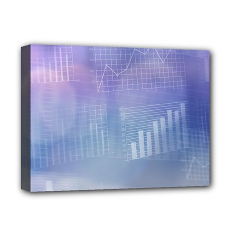 Business Background Blue Corporate Deluxe Canvas 16  X 12   by Nexatart