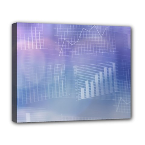 Business Background Blue Corporate Deluxe Canvas 20  X 16
