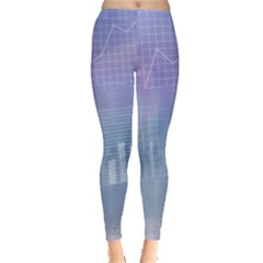 Business Background Blue Corporate Leggings  by Nexatart