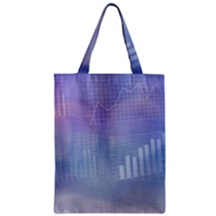 Business Background Blue Corporate Zipper Classic Tote Bag by Nexatart
