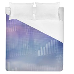 Business Background Blue Corporate Duvet Cover (queen Size) by Nexatart