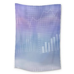 Business Background Blue Corporate Large Tapestry by Nexatart