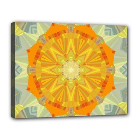Sunshine Sunny Sun Abstract Yellow Canvas 14  X 11  by Nexatart