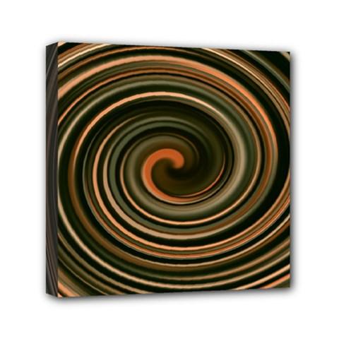 Strudel Spiral Eddy Background Mini Canvas 6  X 6  by Nexatart