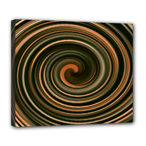 Strudel Spiral Eddy Background Deluxe Canvas 24  X 20   by Nexatart