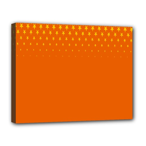 Orange Star Space Canvas 14  X 11  by Mariart