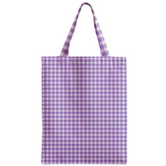 Plaid Purple White Line Zipper Classic Tote Bag by Mariart