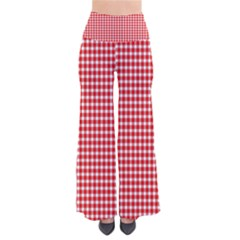 Plaid Red White Line Pants by Mariart
